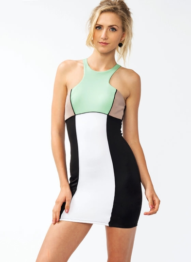 Racerfront Colorblock Dress