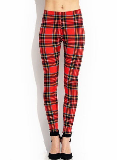 Rad in Plaid Leggings