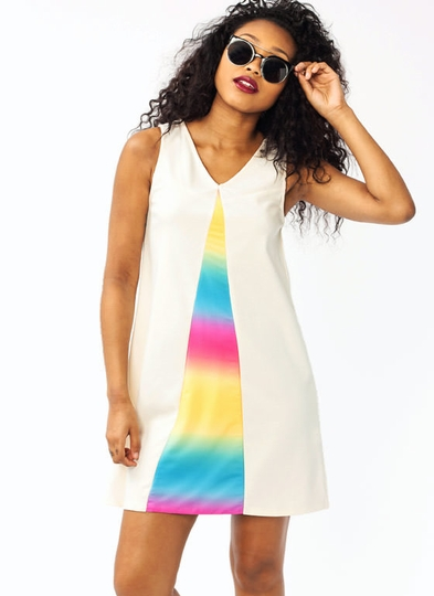 Rainbow Inset Dress