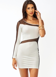 Reptile One Shoulder Dress