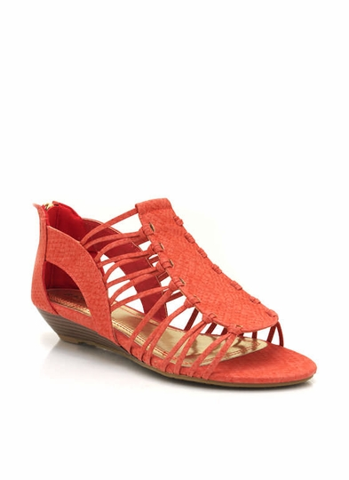 Reptile Texture Wedge Sandals