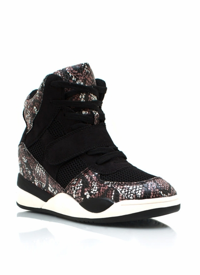 Reptilian Wedge Sneakers