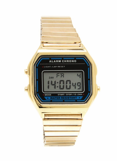 Retro Digital Stretch Watch