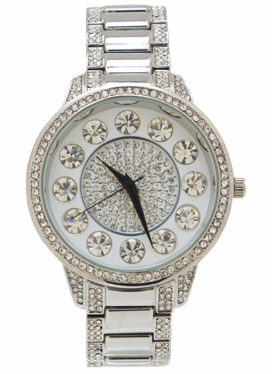 Rhinestone Embellished Watch