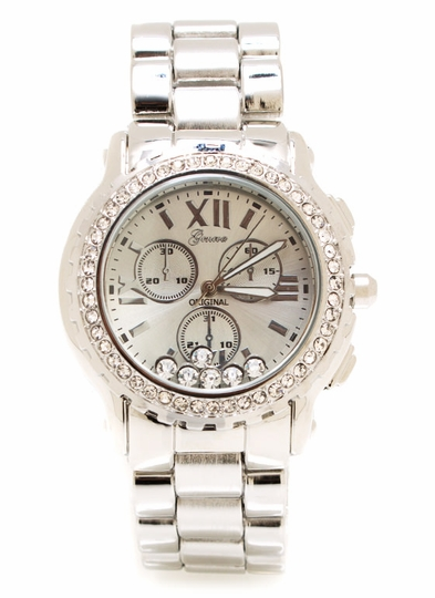 Rhinestone Inset Watch