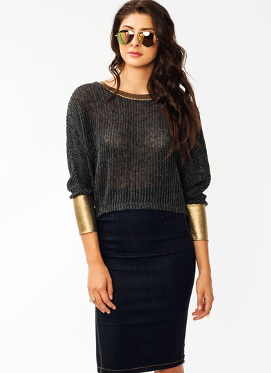 Rib Knit Dolman Sweater