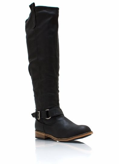 Ride Hard Faux Leather Boots
