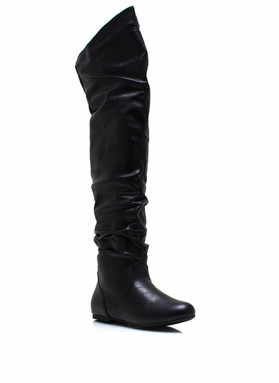 Ride High Faux Leather Boots