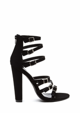 Right 'N Rung Strappy Chunky Heels