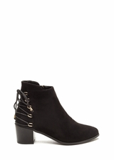 Ring Leader Lace-Up Chunky Booties