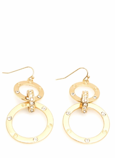 Riveting Circle Earrings