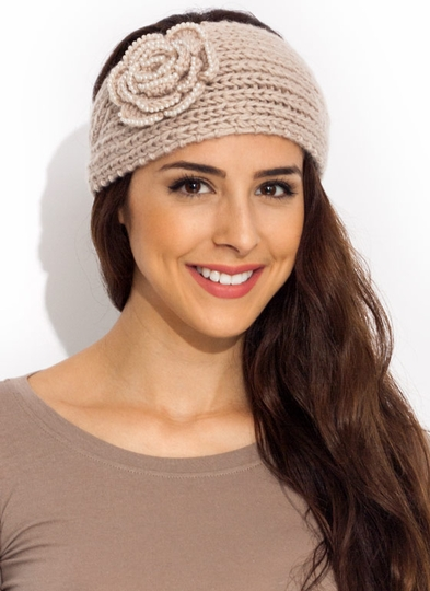 Rose And Shine Pearly Knit Headband