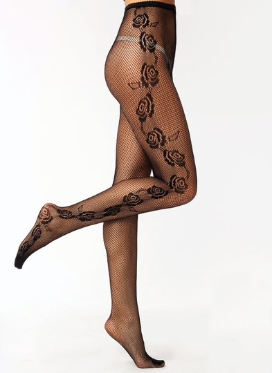 Rose Bouquet Fishnet Stockings