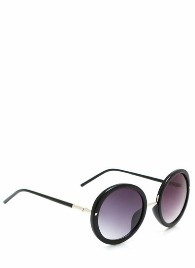 Round And Round Studded Sunglasses