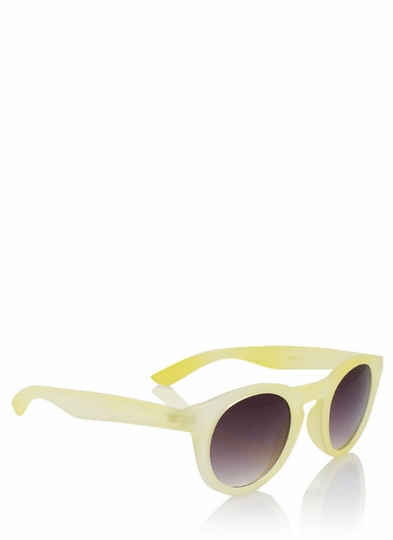 Round Matte Finish Sunglasses