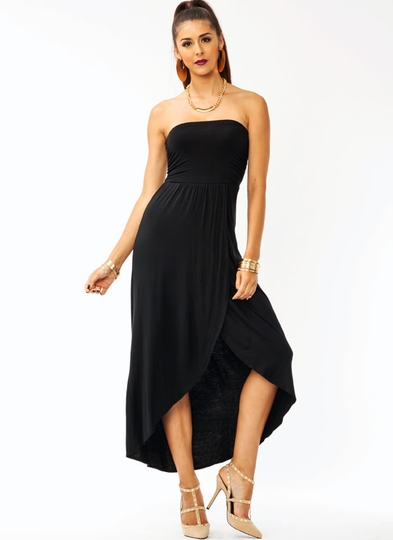 Ruched Tulip Maxi Dress