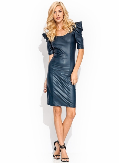 Ruffle Up Coated Dress