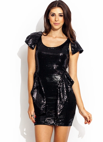 Ruffle Up Sequin Dress