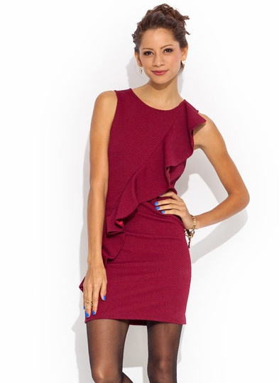 Ruffled Up Textured Dress