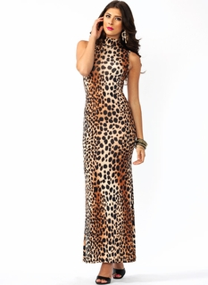 Safari Vixen Turtleneck Maxi