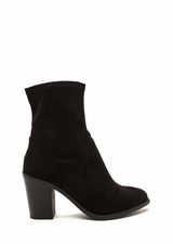 Save The Day Faux Suede Chunky Booties