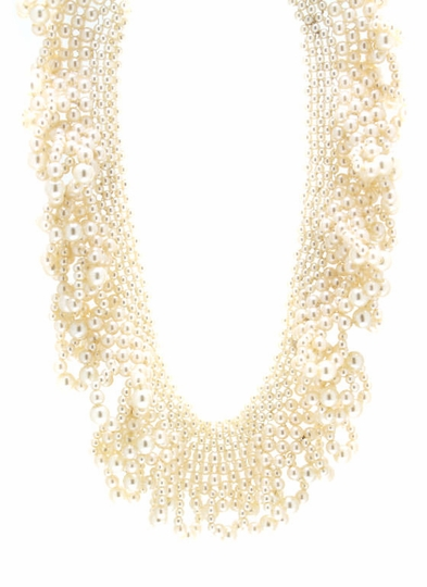 Scalloped Pearl Necklace Set