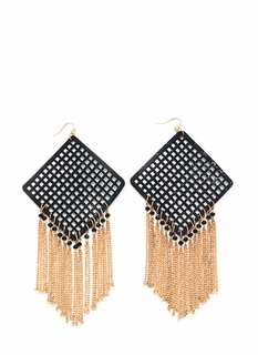 Screen Capture Fringe Earrings