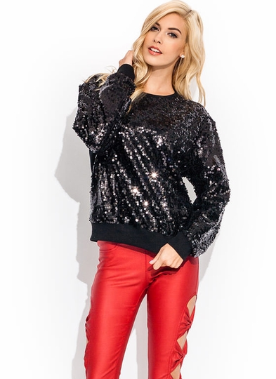 Seeking Sequins Sparkly Sweatshirt