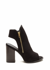 Send My Love Zippered Cut-Out Booties