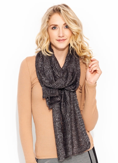 Sequin Accented Knit Scarf