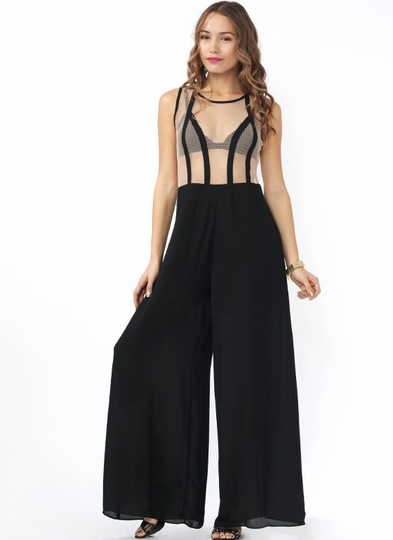 Serve The Net Mesh Jumpsuit