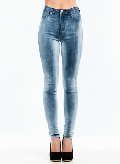 Set In Stone Wash High-Waisted Jeans