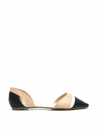 Set The Curve Pointy D'Orsay Flats