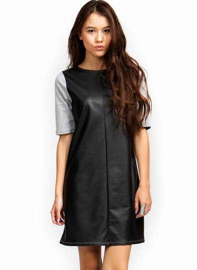 Shift Around Contrast Tee Dress