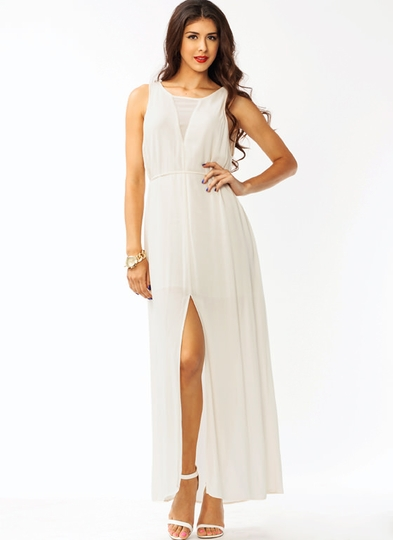 Shifty Slit Maxi Dress