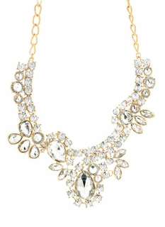 Shine On Faux Jewel Necklace Set