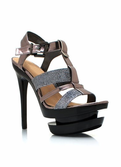 Shine On Strappy Heels