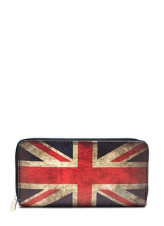 Union Jack Zip-Around Wallet
