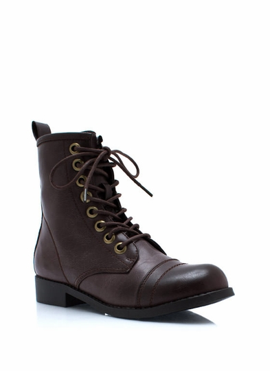 Short And Sweet Combat Boots