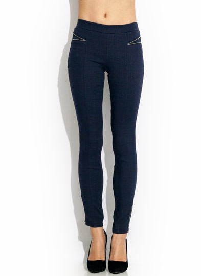 Show Teeth Zipper Skinny Pants