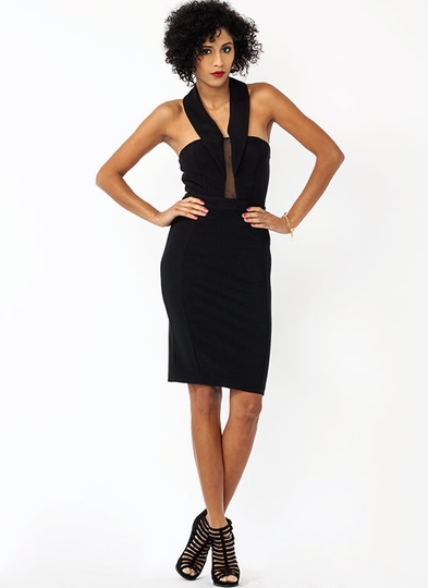 Show Your True Collar Halter Dress
