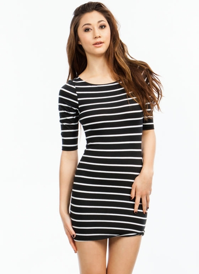 Simply Stripes Bodycon Dress