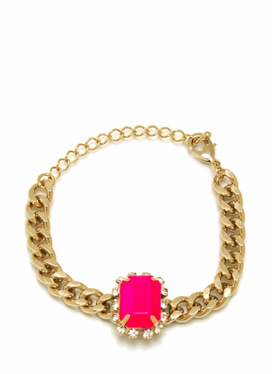 Single Jewel Chain Bracelet