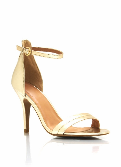 Single-Sole Ankle Strap Heels