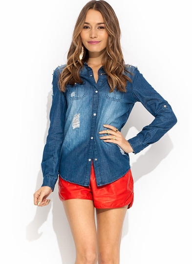 Slasher Chained Chambray Shirt
