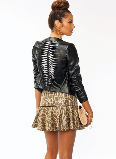 Slasher Faux Leather Jacket