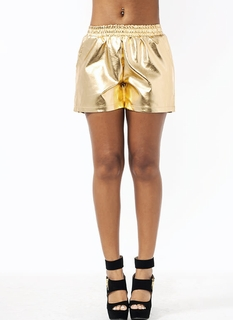 Sleek Faux Leather Shorts