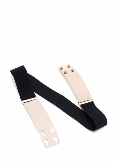 Sliding Peg Metal Plate Belt