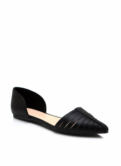 Slit It Pointy-Toe Flats
