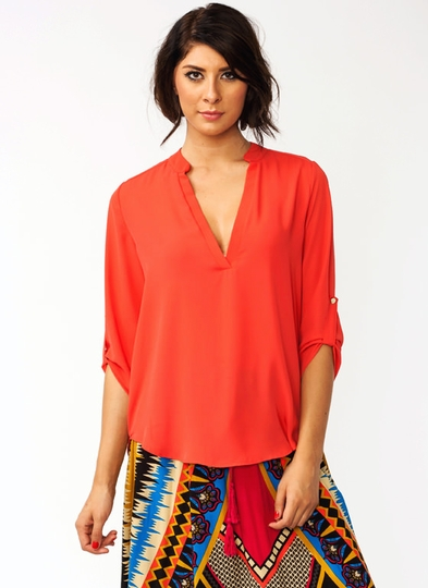 Slit It Tunic Blouse
